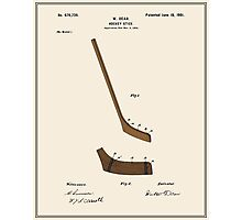 Hockey Stick Patent - Colour Photographic Print