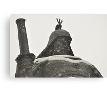 Admiral Lee Shin Covered in Snow Canvas Print