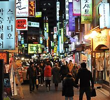 Myeongdong Market at Night by Christian Eccleston