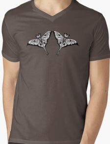 Mirror Moth Mens V-Neck T-Shirt