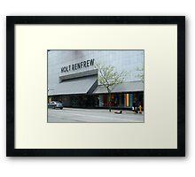 Holt Renfrew 144 Bloor St.  Toronto, On Framed Print