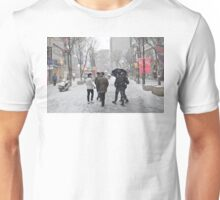 Snowing in Insadong, Seoul Unisex T-Shirt