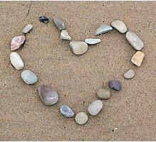 pebble heart Photographic Print