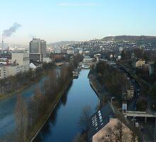 Water-way through Zurich Switzerland by Kosan