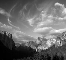 Yosemite Valley Cloudscape (B&W) by Benjamin Padgett