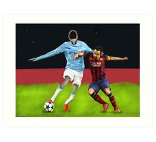 Corky's playing soccer Art Print