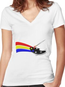 Color Your World Women's Fitted V-Neck T-Shirt