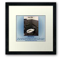 Toilets of New York 2015 January - Baby Gap Framed Print
