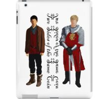 Two sides (dark) iPad Case/Skin