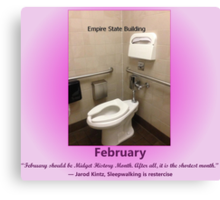 Toilets of New York 2015 February - Empire State Building  Canvas Print