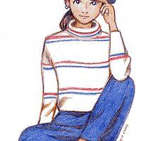 Girl in Stripes by Cynthia Arre