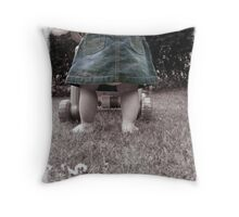 Learning to Walk. Throw Pillow