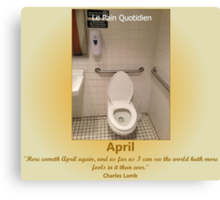 Toilets of New York 2015 April - Le Pain Quotedien Canvas Print