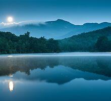 Carolina Blue Moon Reflections by MarkVanDyke