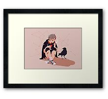 A little chat with myself Framed Print