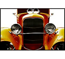 Fear in the Rear view mirror Photographic Print