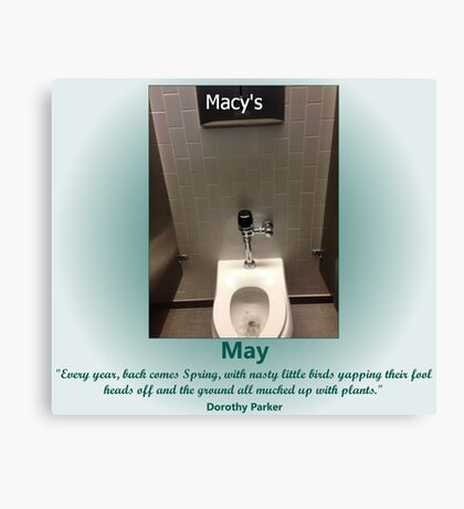 Toilets of New York 2015 May - Macy's Canvas Print