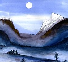 Mountain Moon by Ron C. Moss