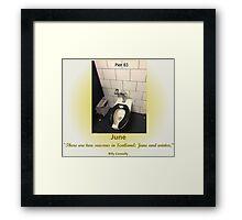 Toilets of New York 2015 June - Pier 83 Framed Print