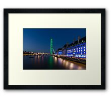 The London Eye and the South Bank at Night Framed Print