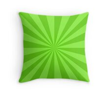 Light green rays Throw Pillow