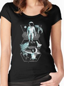 Space Between Women's Fitted Scoop T-Shirt