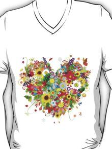 Floral heart T-Shirt