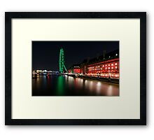 The South Bank, London at Night Framed Print