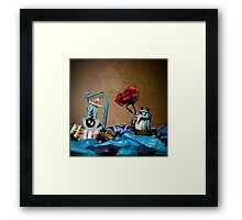 The Walrus King Gets His Game On Framed Print