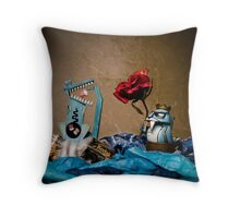 The Walrus King Gets His Game On Throw Pillow