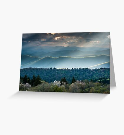 Southern Appalachian Mountain Scenic Landscape Greeting Card