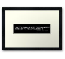 Gotham - Light in the Dark Framed Print