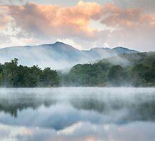 North Carolina Grandfather Mountain Reflects in Price Lake by MarkVanDyke