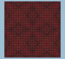 Maroon triangle mosaic Kids Tee