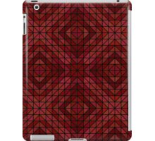 Maroon triangle mosaic iPad Case/Skin