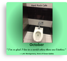 Toilets of New York 2015 October - Hard Rock Cafe Canvas Print