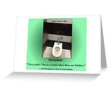 Toilets of New York 2015 October - Hard Rock Cafe Greeting Card