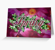 Spring - 4 Seasons Print Range Greeting Card