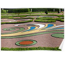 abstract tracery in regular garden Poster