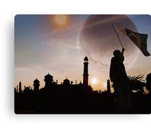 Faqirabad Prime Trinary Sunset !Pakistan Zindabad! Canvas Print