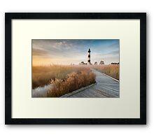 Radiant - Bodie Island Lighthouse OBX North Carolina Framed Print