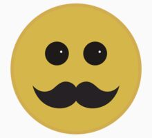 Yellow Smiley Emoticon With Black Mustache Kids Clothes