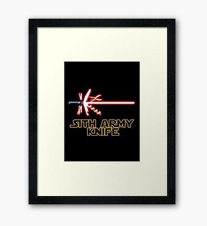Sith Army Knife Framed Print