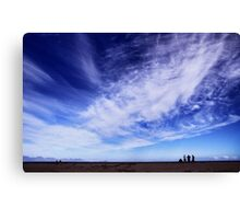 Blue skies and beautiful clouds Canvas Print