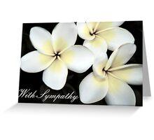 With Sympathy Card Greeting Card