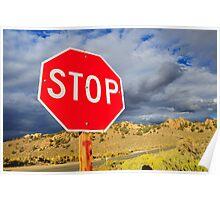 Stop in desert. Poster