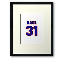 National baseball player Raul Casanova jersey 31 Framed Print