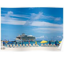 Cruise Ship in St Martin Poster