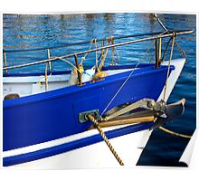 Blue Boat Bow Poster