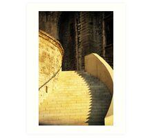 Golden Staircase Art Print